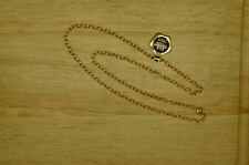"15"" YELLOW GOLD FILLED CABLE CHAIN NECKLACE 2.5mm"