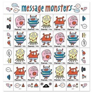 2021 USPS Message Monster Stamps No Die Cut Imperforate Confirmed Order