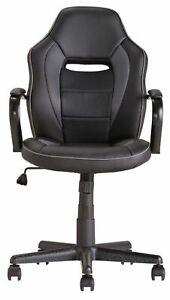 Refurbished  Mid Back adjustable seat height Office Gaming Chair - Black .