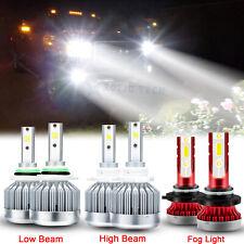 LED Headlight + Fog Light Bulbs Combo For GMC Sierra 1500 2500 HD 3500 2001-2006