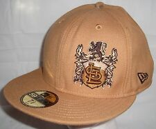 New Era St Louis Cardinals Brown Fitted Baseball Cap Lion Crest 7 3/8 Metallic