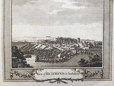 1784 Antique Print; View of Richmond, Yorkshire