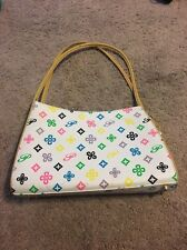 Used Colorful Purse White, Pink, Blue, Black, Green, Purple