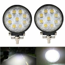 2x 27W 4inch Round LED Work Light Spot Fog Lamp Boat Truck 4x4 Jeep Offroad Ford
