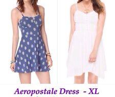 2pc Aeropostale Womens Dress - XL/Blue & Cream