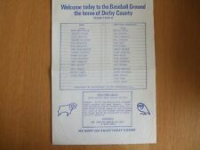 Derby County v Shefield Wednesday - Friendly - 12th Aug 1985