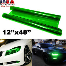 JDM Green Tint Vinyl Film Trim Wrap for Headlight DRL Fog Light Universal
