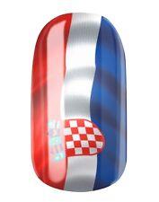 NAGELFOLIEN KROATIEN / CROATIA FLAGGE - NAIL WRAPS by GLAMSTRIPES 0458
