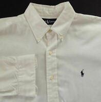 Ralph Lauren Shirt Classic White Button Front Long Sleeve Size Large