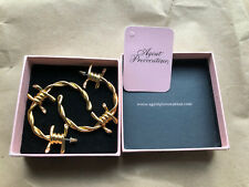 Agent Provocateur Barbed Wire Earrings New In Box With Tag Hard To Find
