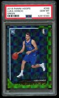 2018 Panini NBA Hoops Luka Doncic /99 Rookie Green PSA 10 Gem Mint RC #268