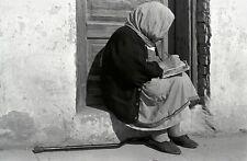 Black White Photo elderly woman write diary rest relax new mexico americana nm