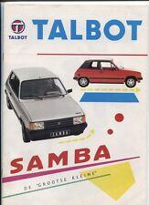 """N°3668 /  TALBOT Samba de """"grootse kleine"""" nederland text    1982"""