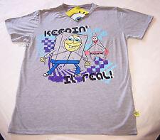 SpongeBob Patrick Keepin It Real Mens Grey Printed T Shirt Size XS New