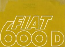 Fiat 600 D 1966-68 UK Market Sales Brochure Saloon Convertible