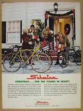 1972 Schwinn Super Sport & Varsity Bikes christmas scene photo vintage print Ad