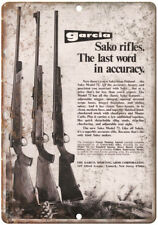 "Garcia Sako Model 72 Rifles Vintage Ad 10"" x 7"" Reproduction Metal Sign"