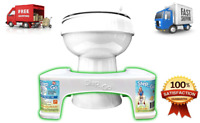 """Step and go Toilet Stool 7"""" Bathroom Potty Squat For Proper Toilet Posture"""