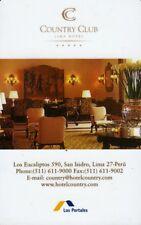 """CLEF HOTEL  """"COUNTRY CLUB / LIMA (HOTEL KEY)"""