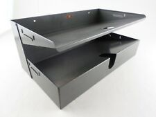 Legal Size Vtg Industrial Gray Metal Desk File Tray In-Out - The IC Line Canada