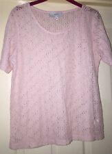 Next Pink Lace Look Top, Size 12 - Lovely!