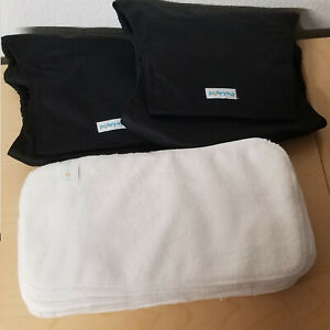 2 NEW Paw Legend Washable Male Dog Belly Band Diaper & 8 Liners - XL