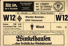 Ticket II. BL 80/81 SV Werder Bremen - OSV Hannover