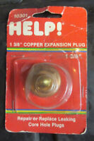 "Help 10301 1-3/8"" Quick Seal Copper Expansion Plug - Dorman 568-008"