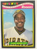 1987 Topps Toys R Us Rookies BARRY BONDS #4 of 33, Pirates RC GOAT!     Qty.