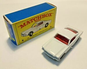 Lesney Matchbox #8 Ford Mustang Fastback with original box