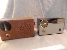 Vintage Zenith Royal 475  Transistor Radio with Case