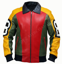 8 Ball Pool Seinfeld Michael Hoban MI Bomber Genuine Leather Jacket All Sizes