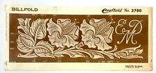 Vintage Leather Tool Stencil Wallet Billfold Floral Pattern Craftaid No. 2780