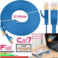 15M RJ45 CAT7 Network Flat Cable SSTP 10Gbps Gigabit LAN Ethernet Lead Patch