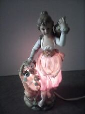 ANTIQUE NIGHT LAMP (GIRL CARRYING FLOWERS) ARDALT 6995 pre-owned