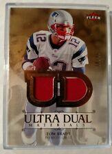 2007 Tom Brady Fleer Ultra Football Dual Materials /45