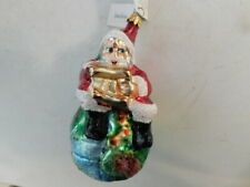1995 Christopher Radko On Top Of The World Santa Neiman Marcus Ornament 10th Ann