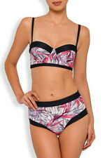 NANCY GANZ New Longline Swimsuit Two-Piece Shaping Bikini Top & Smoothing Brief