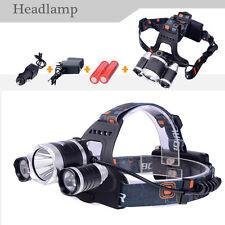Linterna de pesca Frontal Para la cabeza LED Batería Pescar manos libres lampara
