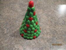 "Vintage Roman Inc 4"" Christmas Tree Candy Village 1984"