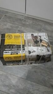 GOLDS GYM 40 Lbs Vinyl Dumbbell Set Weight Dumbbells Hand Weights Adjustable