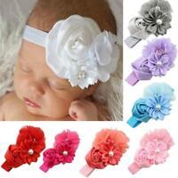 Baby Girl Flower Pearl Flower Hair Band Headband Hairband Accessories Chiffon