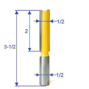 """1 pc 1/2"""" SH 2"""" Blade Extra Long Straight Router Bit S"""