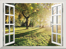 3D Window Wall Sticker Big Tree Sunshine Vinyl Decor Mural Art Home Removable