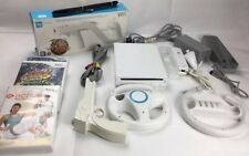 Official Nintendo White WII Console Remote Control Maria Sport Games EXTRA Bits