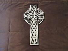 Ceramic Celtic Cross Sculpture Gothic Wall Decoration by McHarp