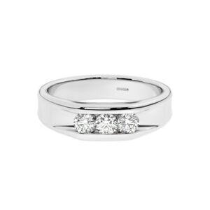 6mm, Round Brilliant Cut Diamonds Men's Wedding Ring in 950 Platinum