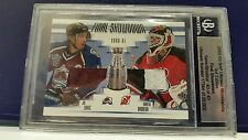 02-03 BAP Martin Brodeur Joe Sakic 40/40 Jersey Ultimate Final Showdown 2002