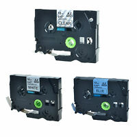 3PK TZ TZe 531 231 131 Label Tape For Brother P-Touch PT-1810 PT-9400 12mmx8m