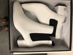 New In Box White Tony Bianco Ankle Boots Size 8